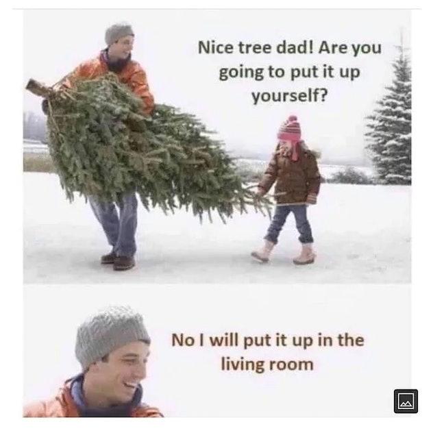 Christmas tree meme