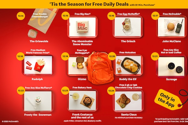 McDonald's is giving away free food this December.