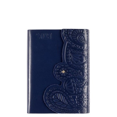 A6 Leather Blu Paisley DTV 2021 Diary