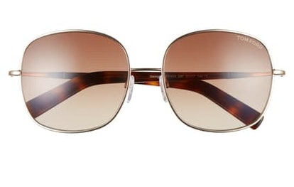 Round 57mm Sunglasses