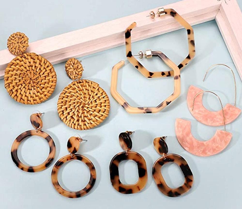 FITATA Acrylic Earrings (9-Pack)
