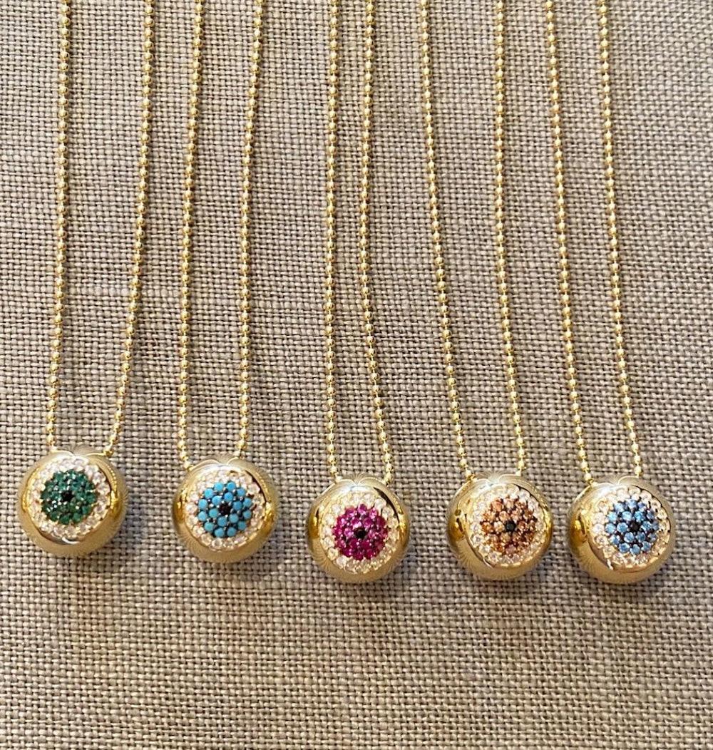 Wide-Eyed Crystal Pavé Necklace