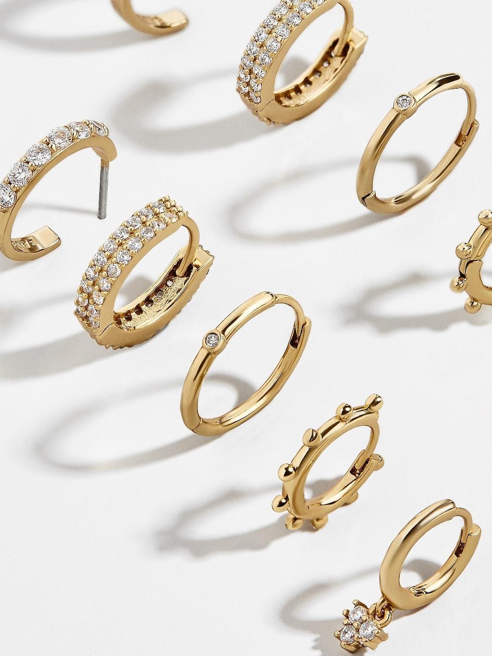 Liza Gold Huggie Hoop Earring Kit