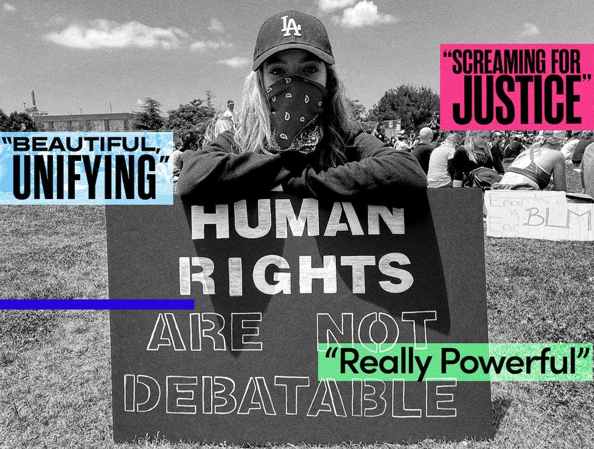 Jade Pettyjohn at a BLM protest