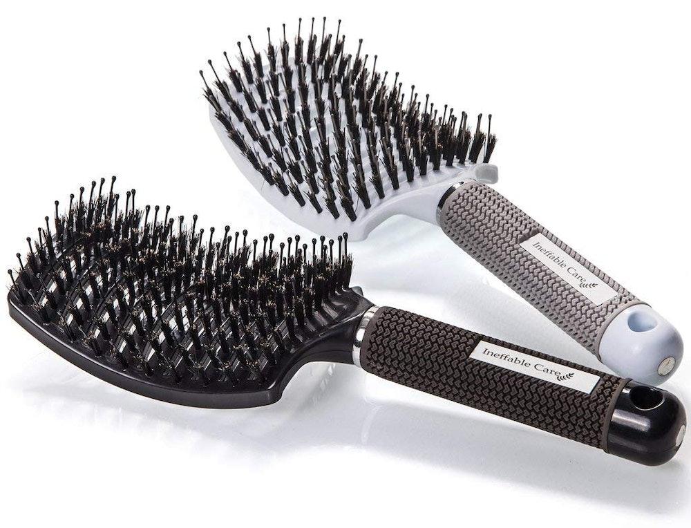 Ineffable Care Boar Bristle Hair Brush (2-Pack)