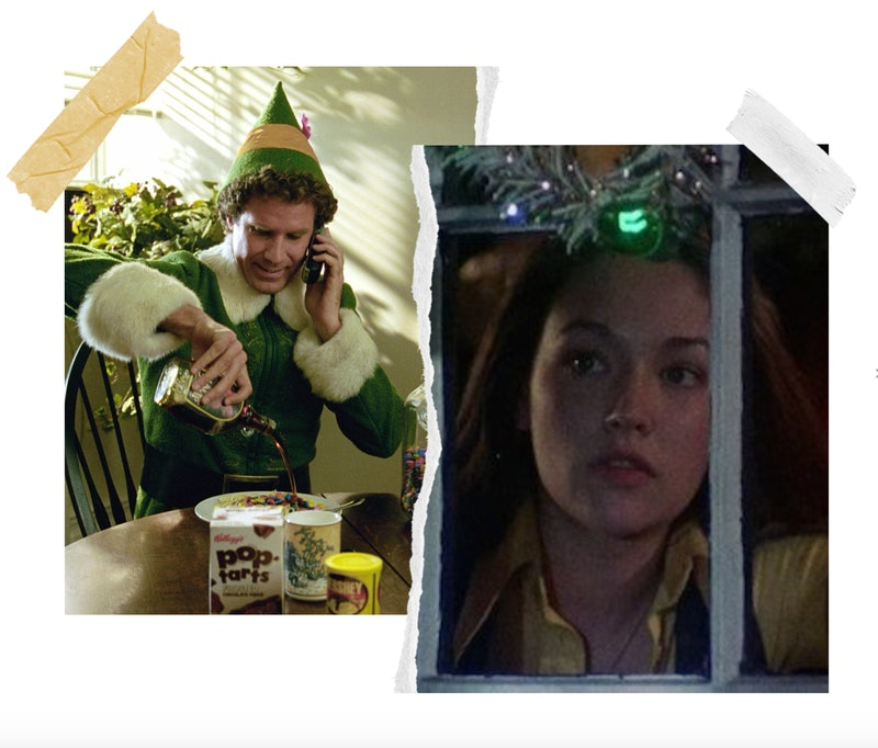 stills from 'Elf' and 'Black Christmas'
