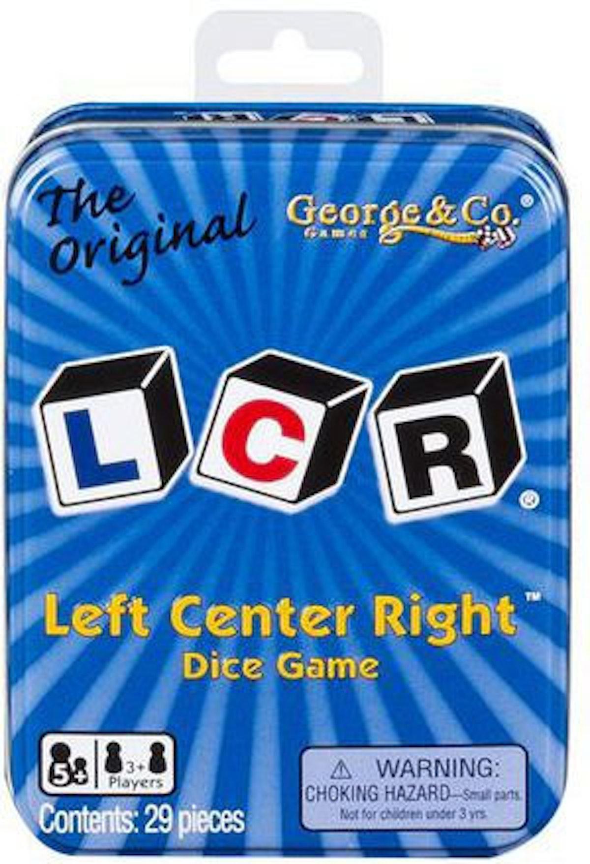 LCR® Left Center Right Dice Game Blue Tin Original
