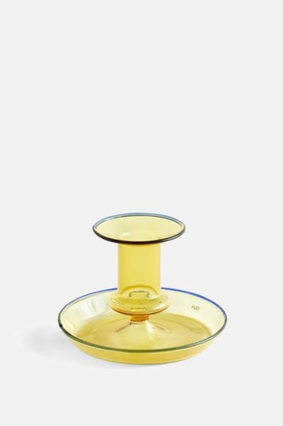 Hay Flare Candle Holder In Yellow