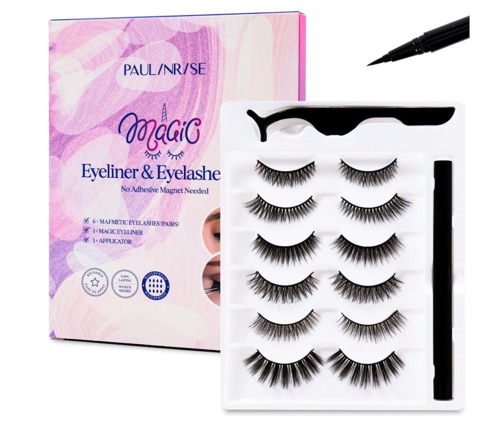 Paulinrise Magnetic Eyeliner and Eyelashes Kit (6-Pack)