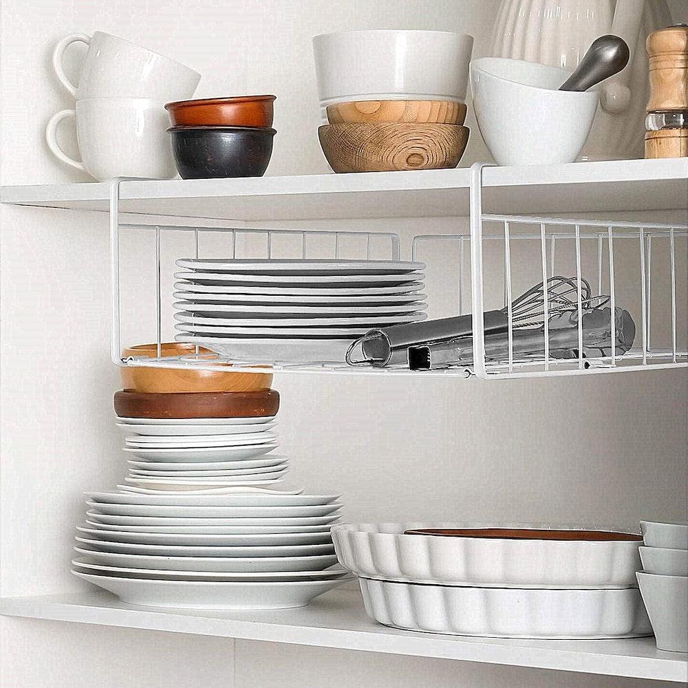 SimpleTrending Under-Cabinet Organizer Shelf (2-Pack)