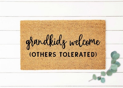 Grandkids Welcome Here Doormat