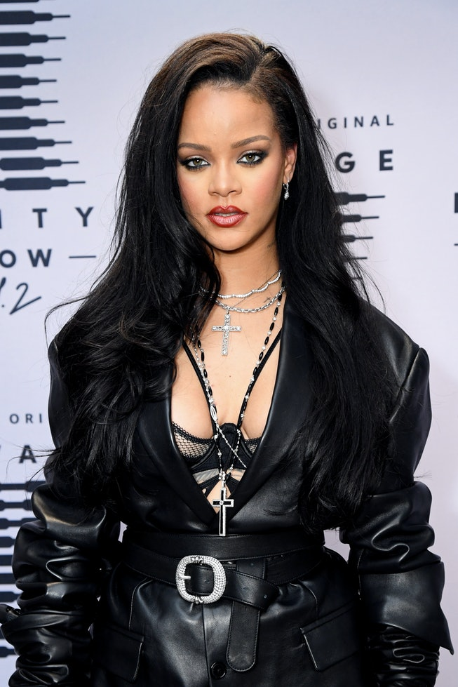 ihanna attends the second press day for Rihanna's Savage X Fenty Show Vol. 2