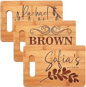 Be Burgundy Personalized Cutting Board