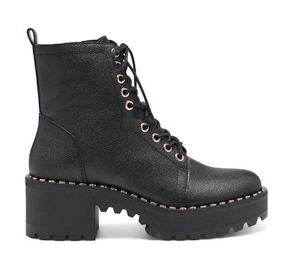 MECALE LEATHER COMBAT BOOTIES