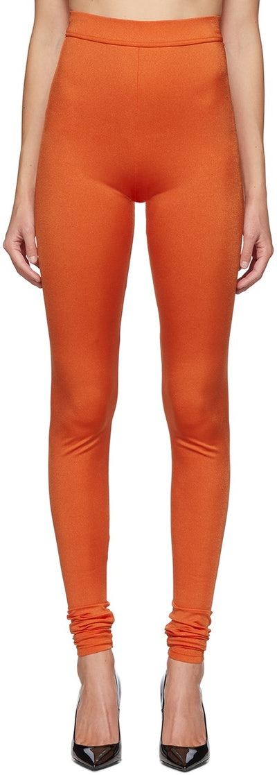 Orange High-Waisted Leggings