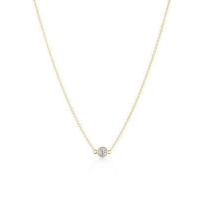 Single Bezel Luxe Necklace