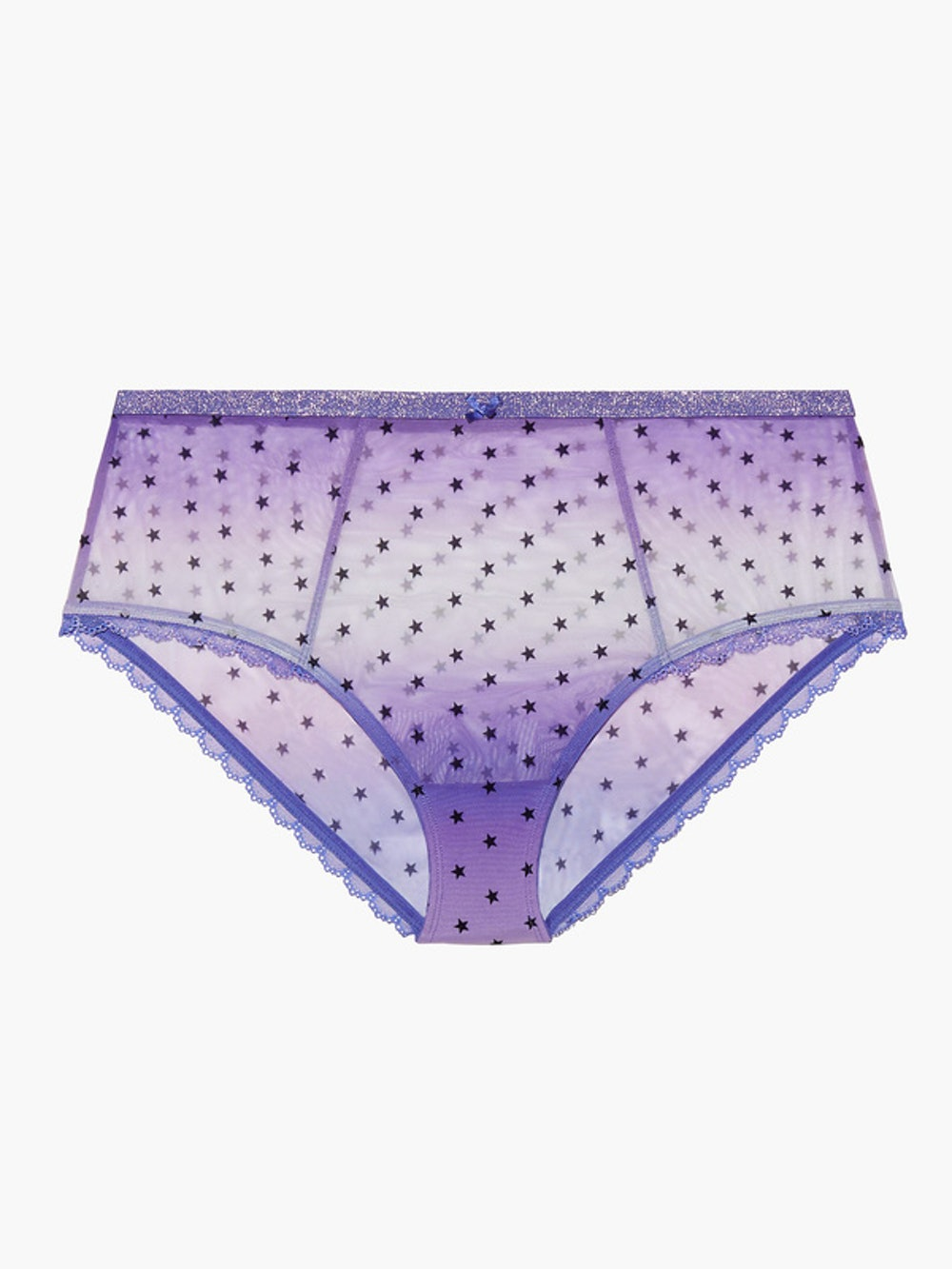 Metallic Stars High Waist Brief