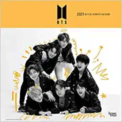 BTS OFFICIAL 2021 12 x 12 Inch Monthly Square Wall Calendar with Foil Stamped Cover