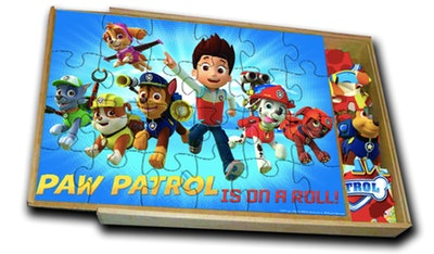 PAW Patrol 5-Pack of Wood Jigsaw Puzzles