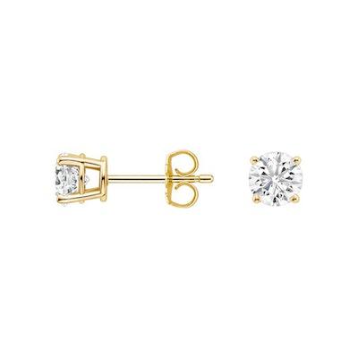 Lab Created Diamond Stud Earrings