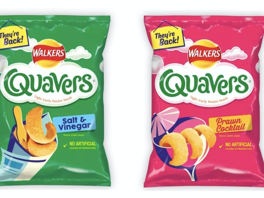 Salt and Vinegar Quavers and Prawn Cocktail Quavers