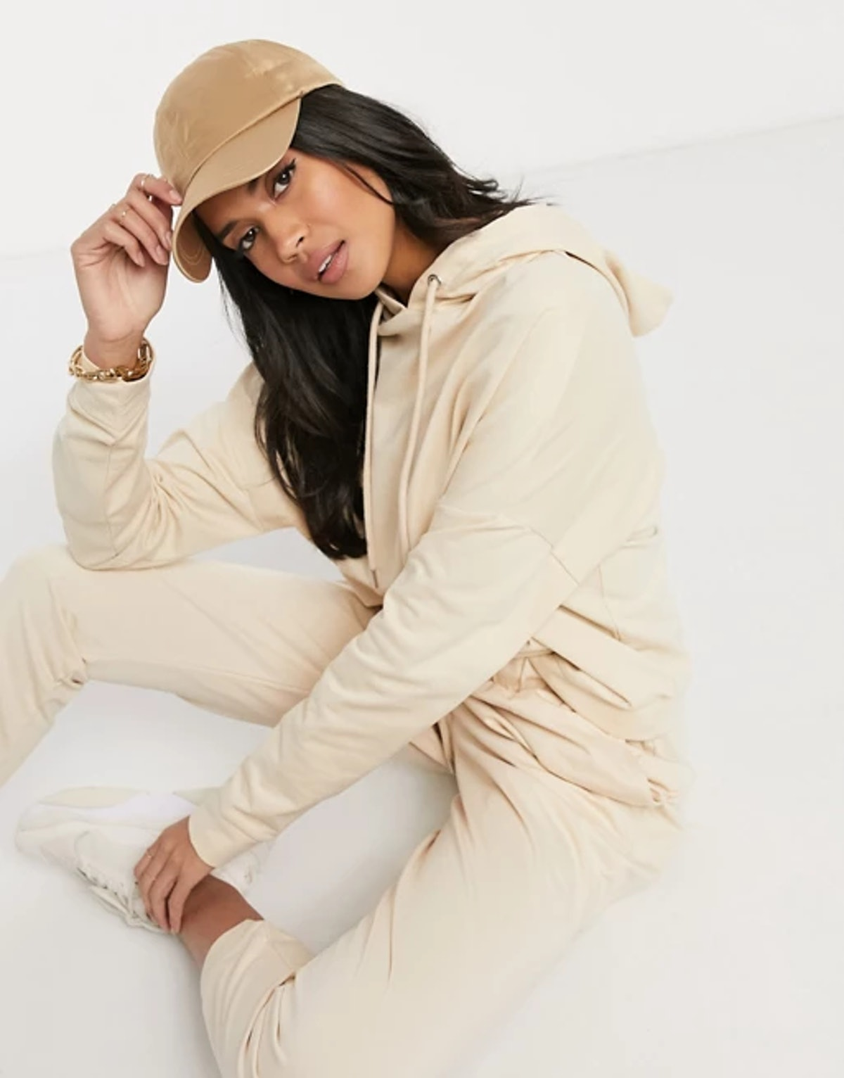 ASOS Design Hourglass Tracksuit Hoodie / Slim Jogger with Tie