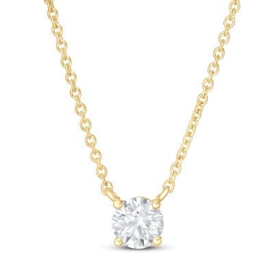 "Lab-Created Diamond Necklace 19"""