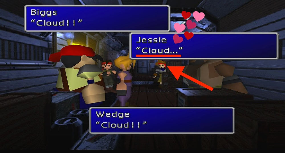 ff7 original jessie reacts to cloud