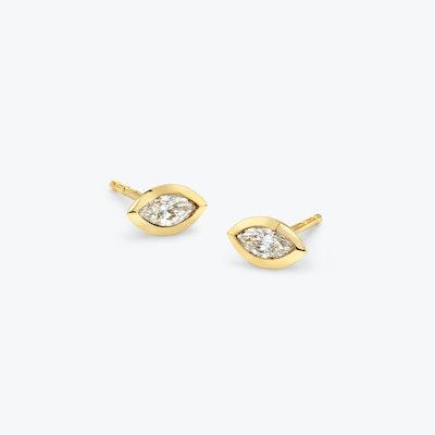 Diamond Bezel Earrings