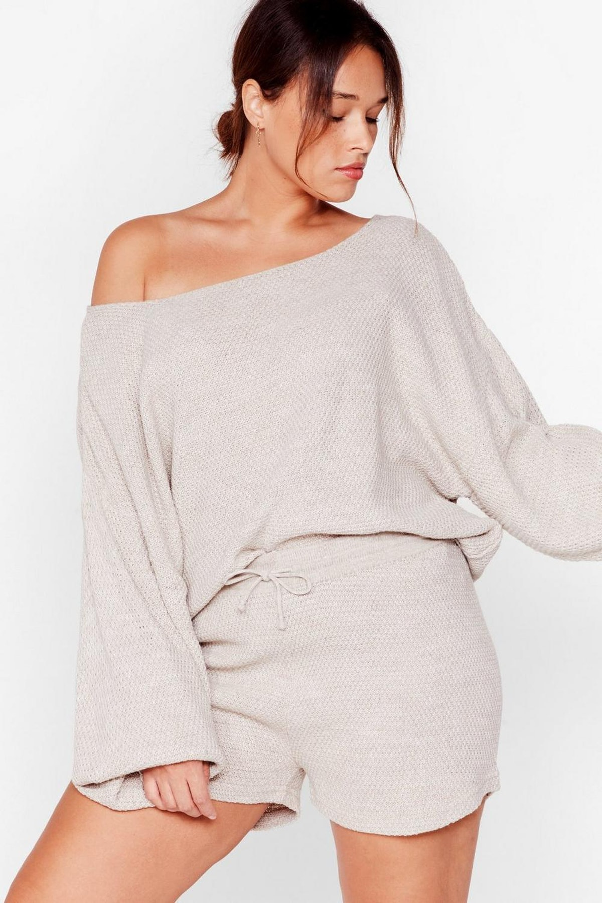 Nasty Gal Tell Me What Knit is Plus Lounge Set