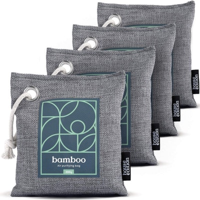 House Edition Bamboo Charcoal Air Purifying Bag (4-Pack)