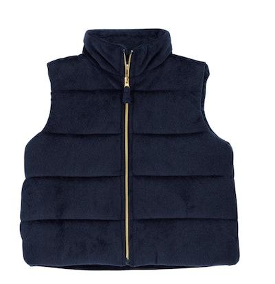Velvet Puffer Vest