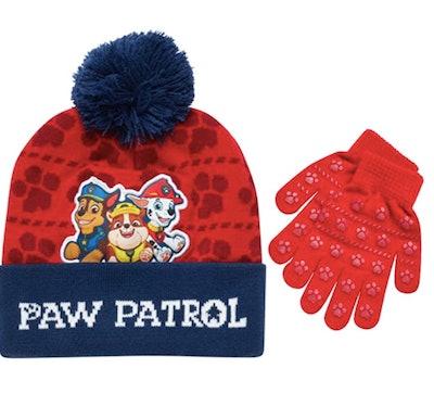 Nickelodeon Paw Patrol Boys Winter Hat and Mitten Set