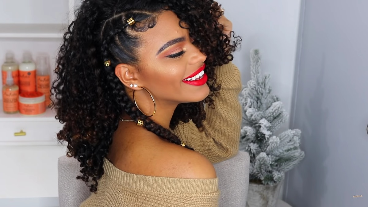 Franchelli Rodriguez shows off her holiday hairdo in a YouTube tutorial video.