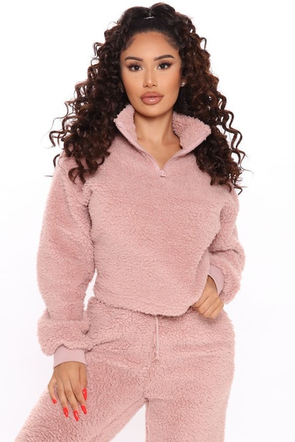 Fashion Nova Cuddle Time Cozy Pant Set