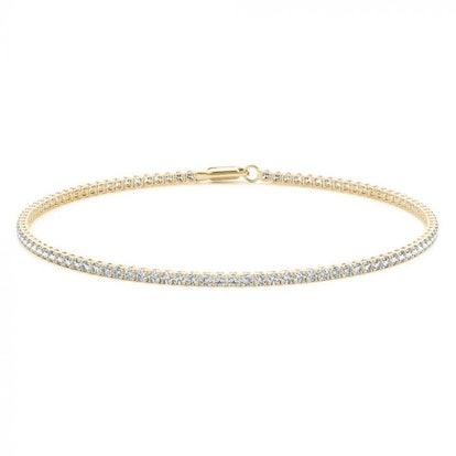 Yellow Gold Petite Diamond Bracelet
