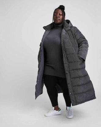 Everest Long Hooded Puffer