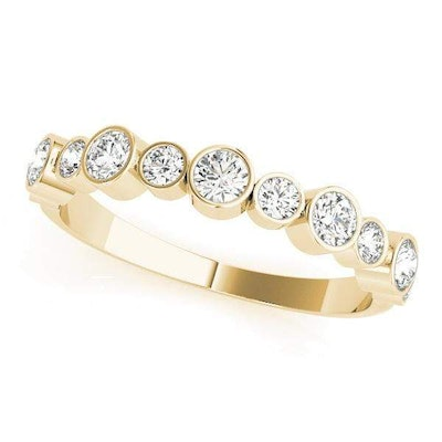 Classic Dual Size Stackable Diamond Ring