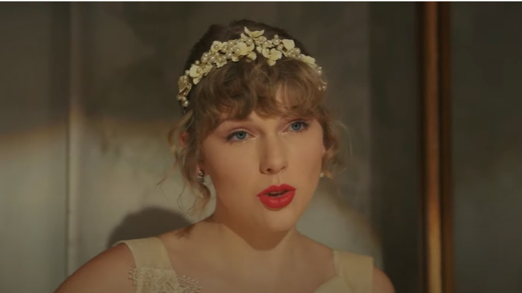 """A screenshot from Taylor Swift's """"Willow"""" music video."""