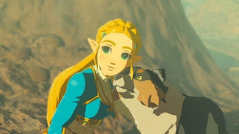 zelda breath of the wild with a dog