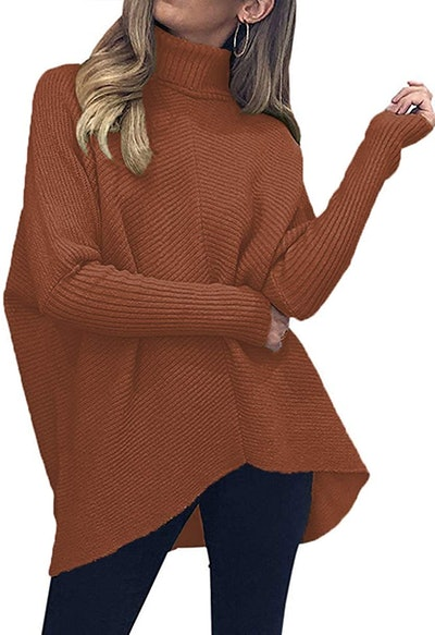 ANRABESS Women's Turtleneck Sweater