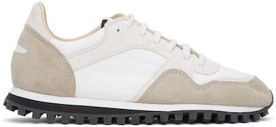 White & Grey Marathon Trail Low Sneakers