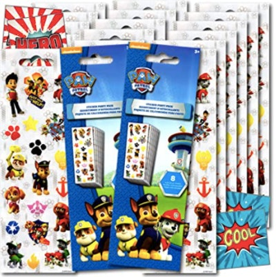Paw Patrol Party Favors Sticker