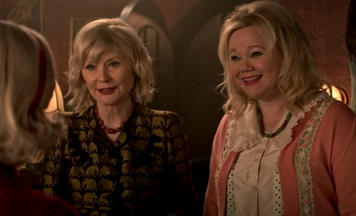 Hilda and Zelda from 'Sabrina the Teenage Witch' appear in 'Chilling Adventures of Sabrina' Part 4.