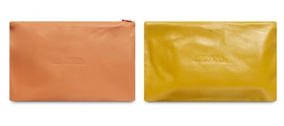 Aura Yellow and Coral Pouch