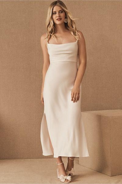 Cali Satin Midi Dress