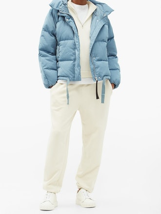 Hooded Quilted Down Jacket