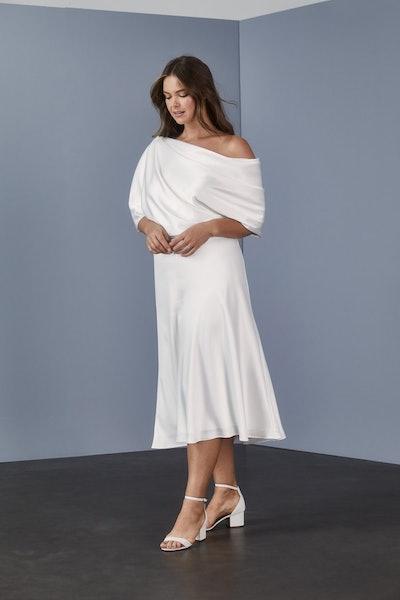 Draped Bodice Dress