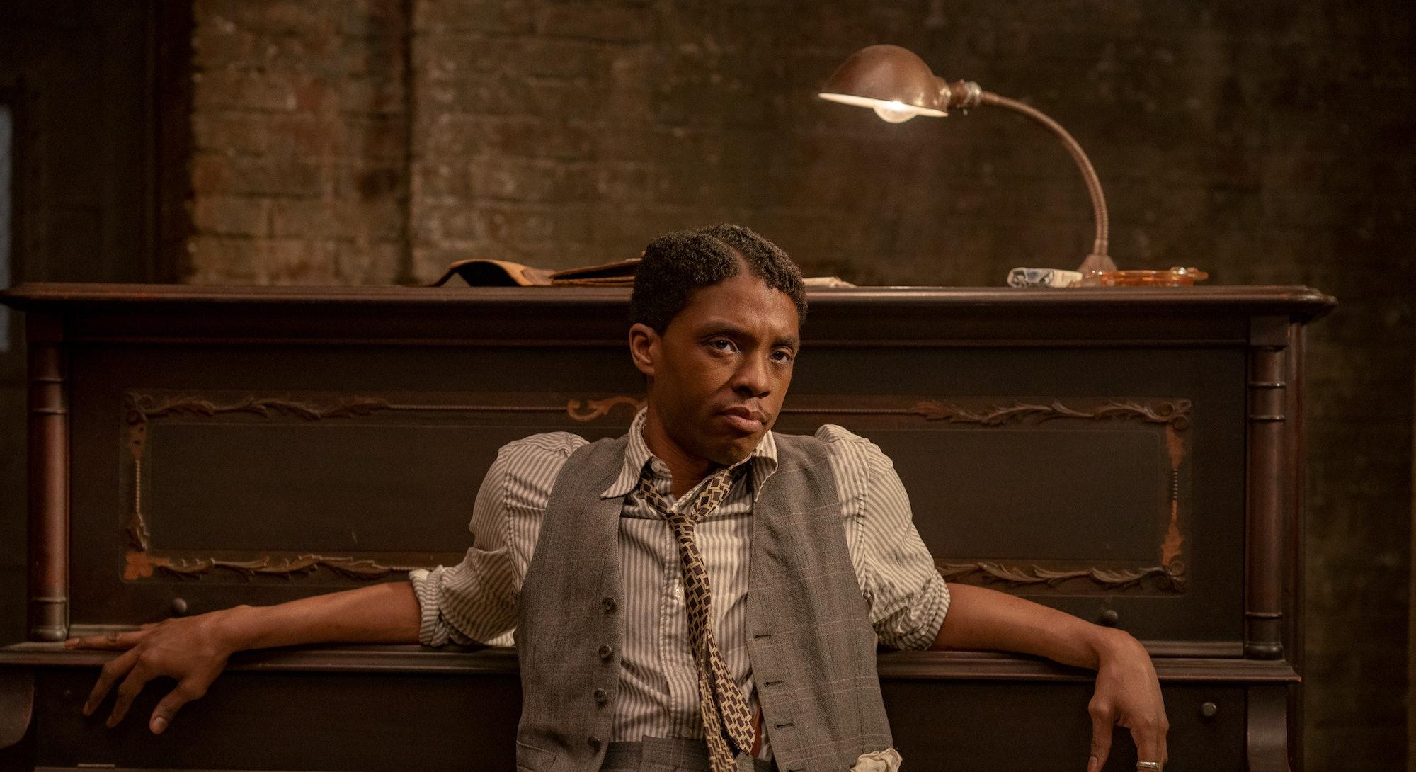 Chadwick Boseman in 'Ma Rainey's Black Bottom,' via the Netflix press site.