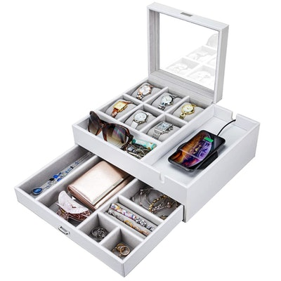 HOUNDSBAY Jewelry Box With Charging Station